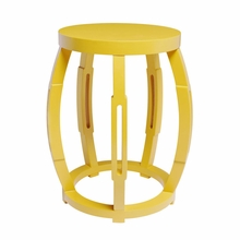 Taboret Stool or Side Table - Yellow