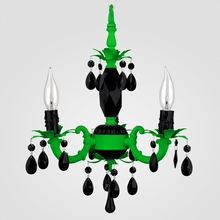 Tahlia Neon Green Black Crystal Chandelier