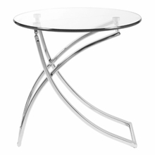 Talisa Side Table in Clear Glass and Chrome