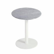 Tammy Side Table in Marble and White