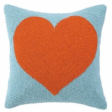 Tangerine Heart Hook Pillow