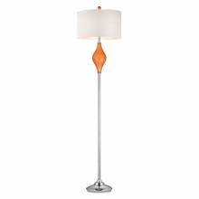 Tangerine Orange Glass Floor Lamp