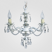 Tara Matte White Clear Crystal Chandelier