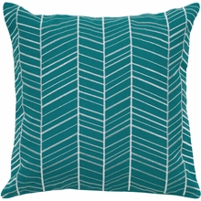 Teal Arrow Throw Pillow