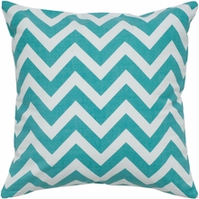 Chevron Throw Pillow in Teal
