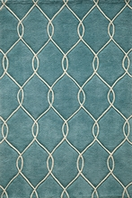 Teal Links Bliss Rug
