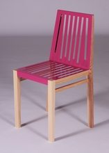 Telemagenta and Natural Marlowe Chair