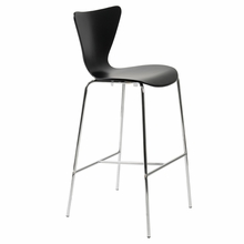 Tendy Bar Chair in Black and Chrome - Set of 2