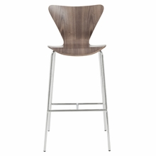 Tendy Bar Chair in Walnut and Chrome - Set of 2
