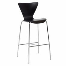 Tendy Bar Chair in Wenge and Chrome - Set of 2