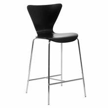 Tendy Counter Chair in Black and Chrome - Set of 2