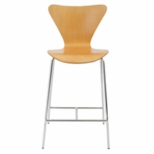 Tendy Counter Chair in Natural and Chrome - Set of 2