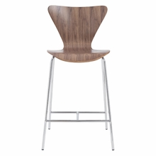 Tendy Counter Chair in Walnut and Chrome - Set of 2