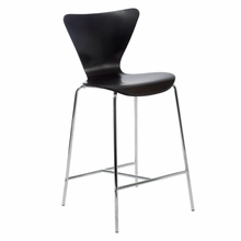 Tendy Counter Chair in Wenge and Chrome - Set of 2