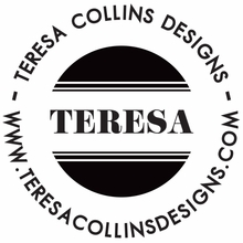 Teresa Collins Simple Name Personalized Self-Inking Stamp