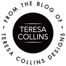 Teresa Collins Simple Text Personalized Self-Inking Stamp