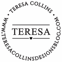Teresa Collins Tiny Heart Personalized Self-Inking Stamp