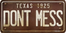 Texas Custom License Plate Art