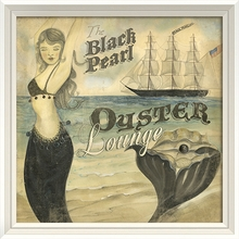 The Black Pearl Oyster Lounge Framed Wall Art