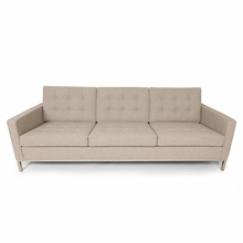 The Draper Upholstered Sofa in Wheat Wool