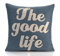 The Good Life Recycled Felt Throw Pillow