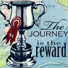 The Journey is the Reward Canvas Art