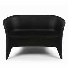 The Tuxedo Outdoor Love Seat in Black