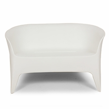 The Tuxedo Outdoor Love Seat in White