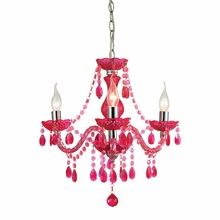 Theatre Cerise Pink Mini Chandelier