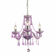 Theatre Purple Mini Chandelier