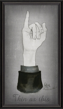 Thin As This Hand Gesture Framed Wall Art