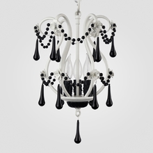 Tiffany Matte White Black Crystal Chandelier