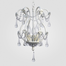Tiffany Matte White Clear Crystal Chandelier