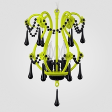 Tiffany Neon Yellow Black Crystal Chandelier