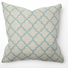 Tile Turquoise Print Throw Pillow