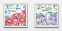 Time to Bloom and Blossom Framed Art Set