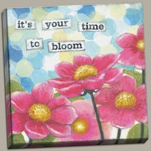 Time to Bloom Canvas Wall Art