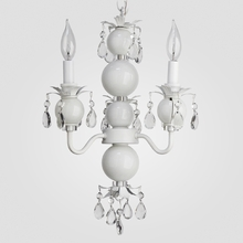Toni White Crystal Chandelier