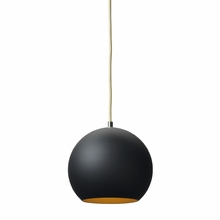 Topan Pendant in Black with Gold Leaf