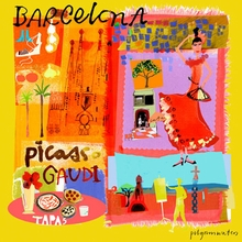 Tour Barcelona Canvas Art