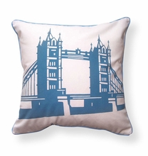 Tower Bridge of London Reversible Throw Pillow