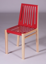 Traffic Red and Natural Marlowe Chair