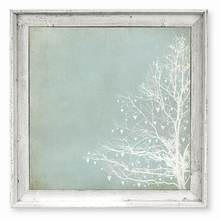 Tree of Love Green Framed Canvas Wall Art