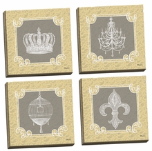 Tress Jolie I, II, III, IV Canvas Wall Art Set