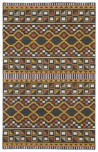 Tribal Shapes Rug in Charcoal