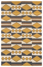 Tribal Shapes Rug in Gold