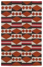 Tribal Shapes Rug in Tangerine