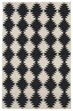 Tribal Stars Nomad Rug in Black