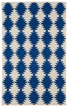 Tribal Stars Nomad Rug in Navy