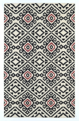 District17 Tribal Suzani Nomad Rug In Black Patterned Rugs